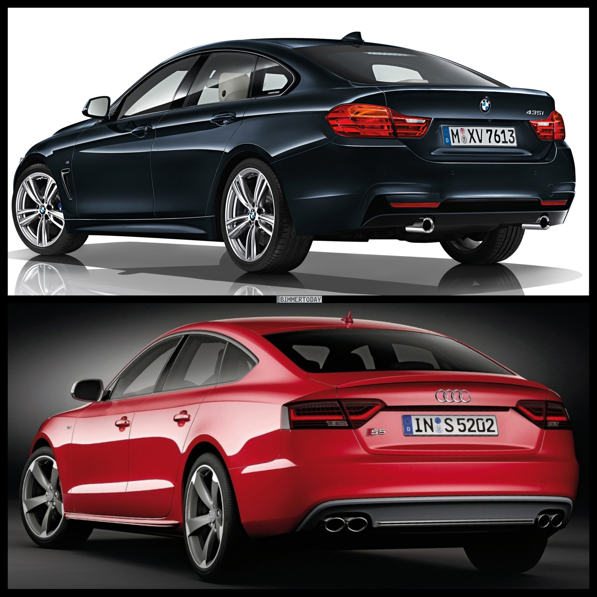 Photo Comparison: BMW 4 Series Gran Coupe vs Audi S5 Sportback