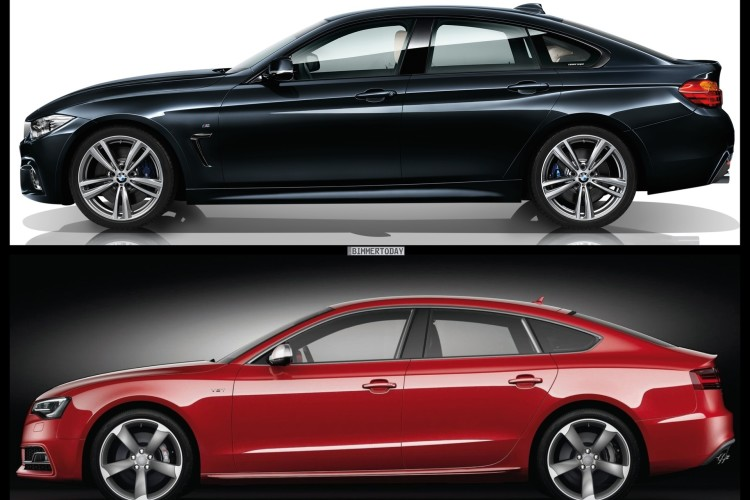 Bild Vergleich BMW 4er Gran Coupe F36 Audi S5 Sportback 03 750x500