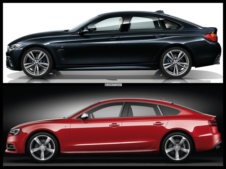 Bild Vergleich BMW 4er Gran Coupe F36 Audi S5 Sportback 03 750x562