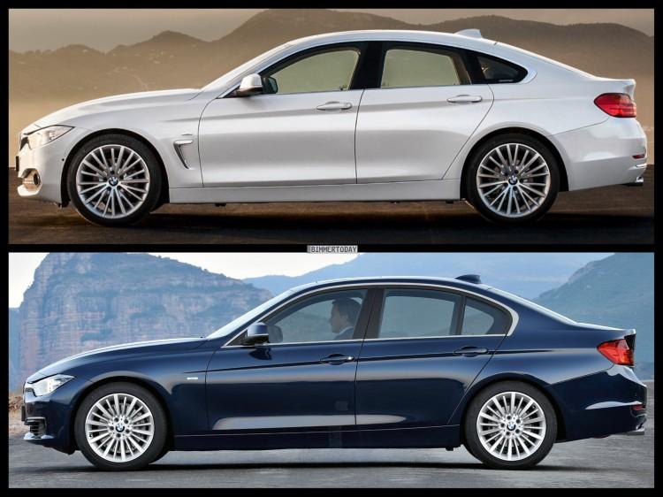 Bild Vergleich BMW 4er Gran Coupe GC F36 3er F30 Limousine Luxury Line 03 750x562