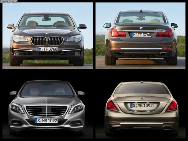 Bild Vergleich BMW 7er LCI F01 Mercedes S Klasse W222 04 655x490