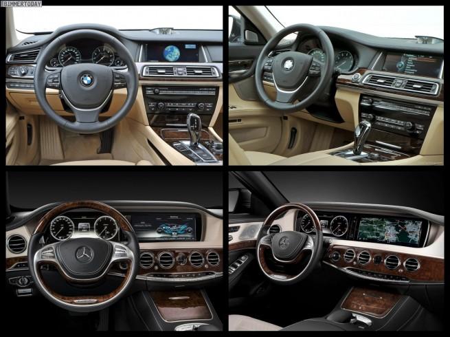 Bild Vergleich BMW 7er LCI F01 Mercedes S Klasse W222 05 655x490