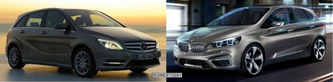 Bild Vergleich BMW Active Tourer Mercedes B Klasse 655x163