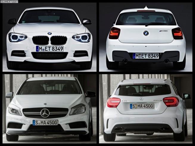 Bild Vergleich BMW M135i F20 Mercedes A45 AMG 04 655x490