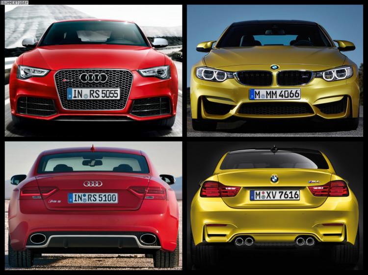 Bild Vergleich BMW M4 F82 Audi RS5 Coupe 04 750x562