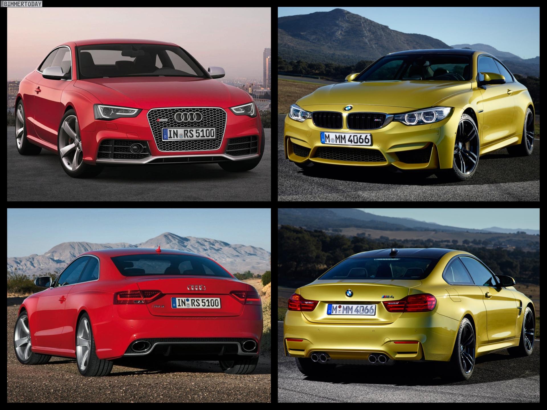 Bild Vergleich BMW M4 F82 Audi RS5 Coupe 05
