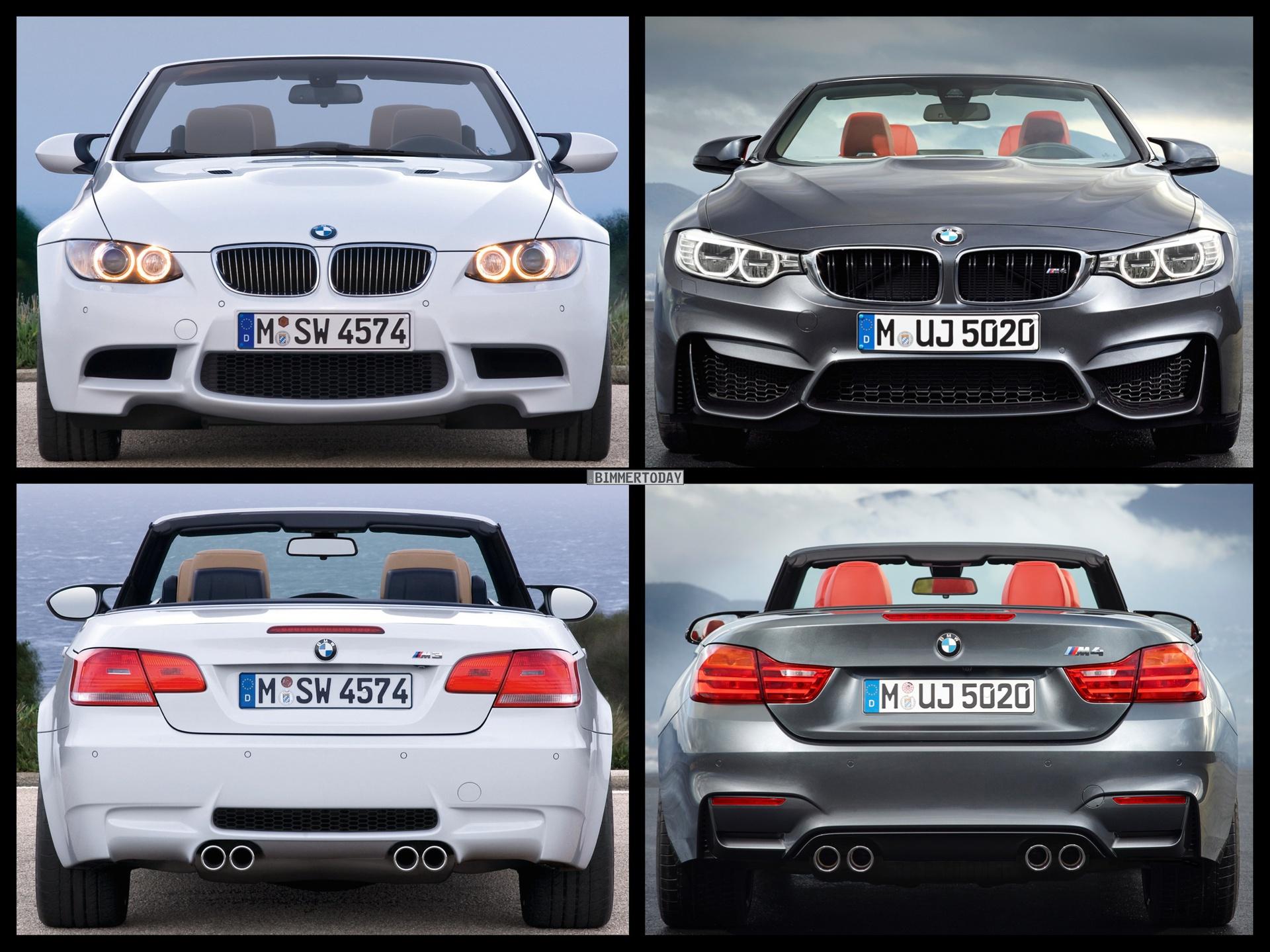 Bild Vergleich BMW M4 F83 M3 E93 Cabrio 05