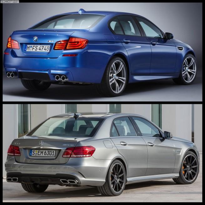 Bild Vergleich BMW M5 F10 Mercedes E63 AMG 02 655x655