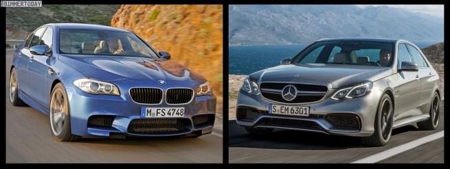 Bild Vergleich BMW M5 F10 Mercedes E63 AMG 04 655x247