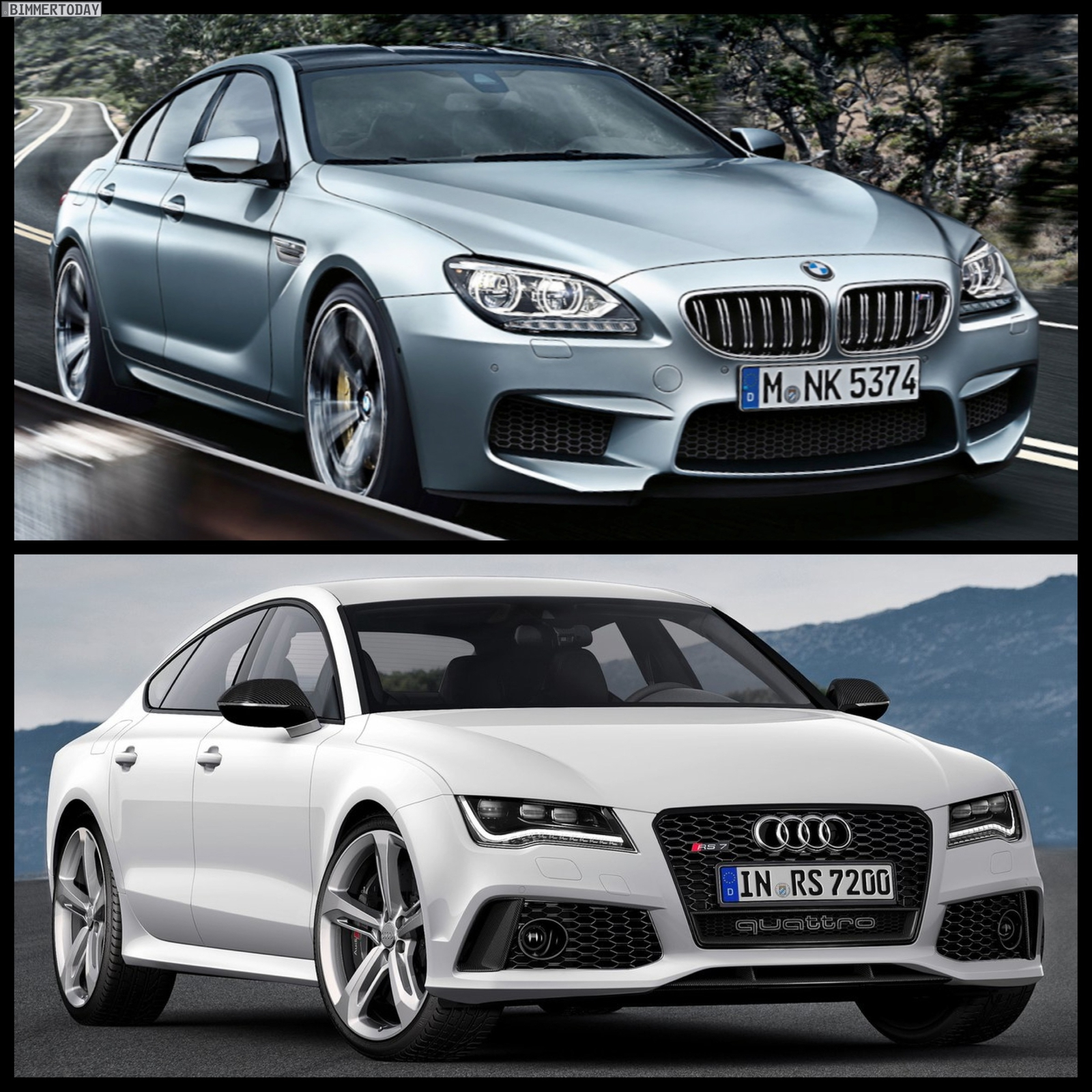 Bmw Z 8 For Sale: Photo Comparison: BMW M6 Gran Coupe Vs Audi RS7