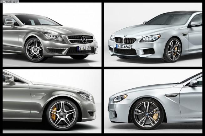 Bild Vergleich BMW M6 GC Mercedes CLS63 AMG 01 655x437