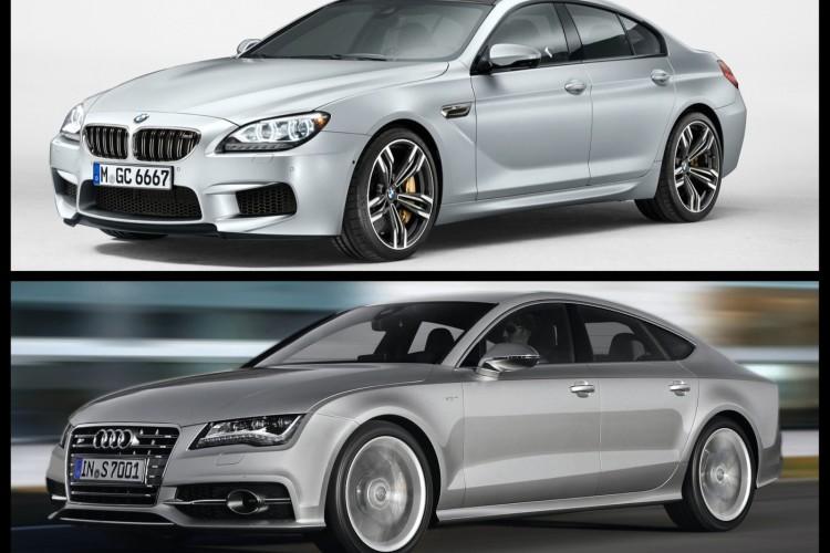 Bild Vergleich BMW M6 Gran Coupé Audi S7 Sportback 01 750x500