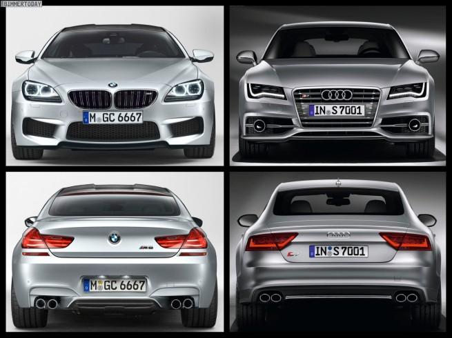 Bild Vergleich BMW M6 Gran Coupé Audi S7 Sportback 04 655x490
