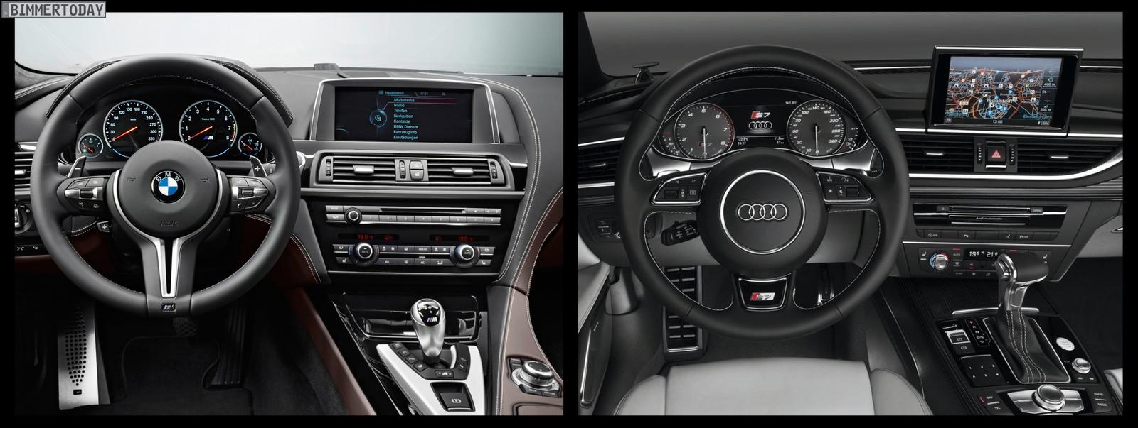 Bild Vergleich BMW M6 Gran Coupé Audi S7 Sportback 06