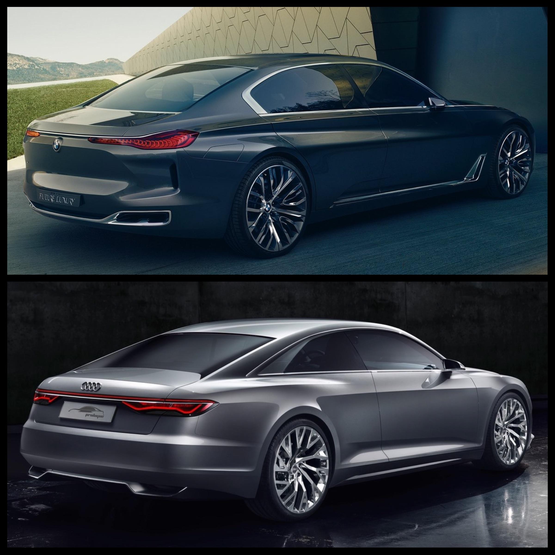 Future Interior Luxury Design: Photo Comparison: Audi Prologue Concept Vs BMW Vision