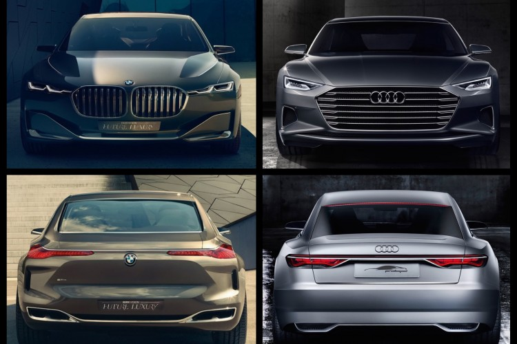 Photo Comparison Audi Prologue Concept Vs BMW Vision Future Luxury - Bmw vs audi