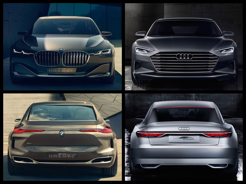 Photo Comparison Audi Prologue Concept Vs Bmw Vision Future Luxury