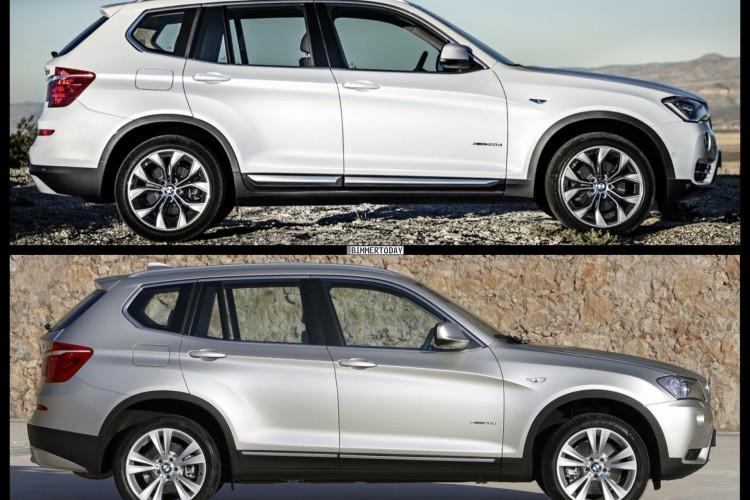 Bild Vergleich Bmw X3 F25 Xdrive Facelift Lci 2017 03 750x500