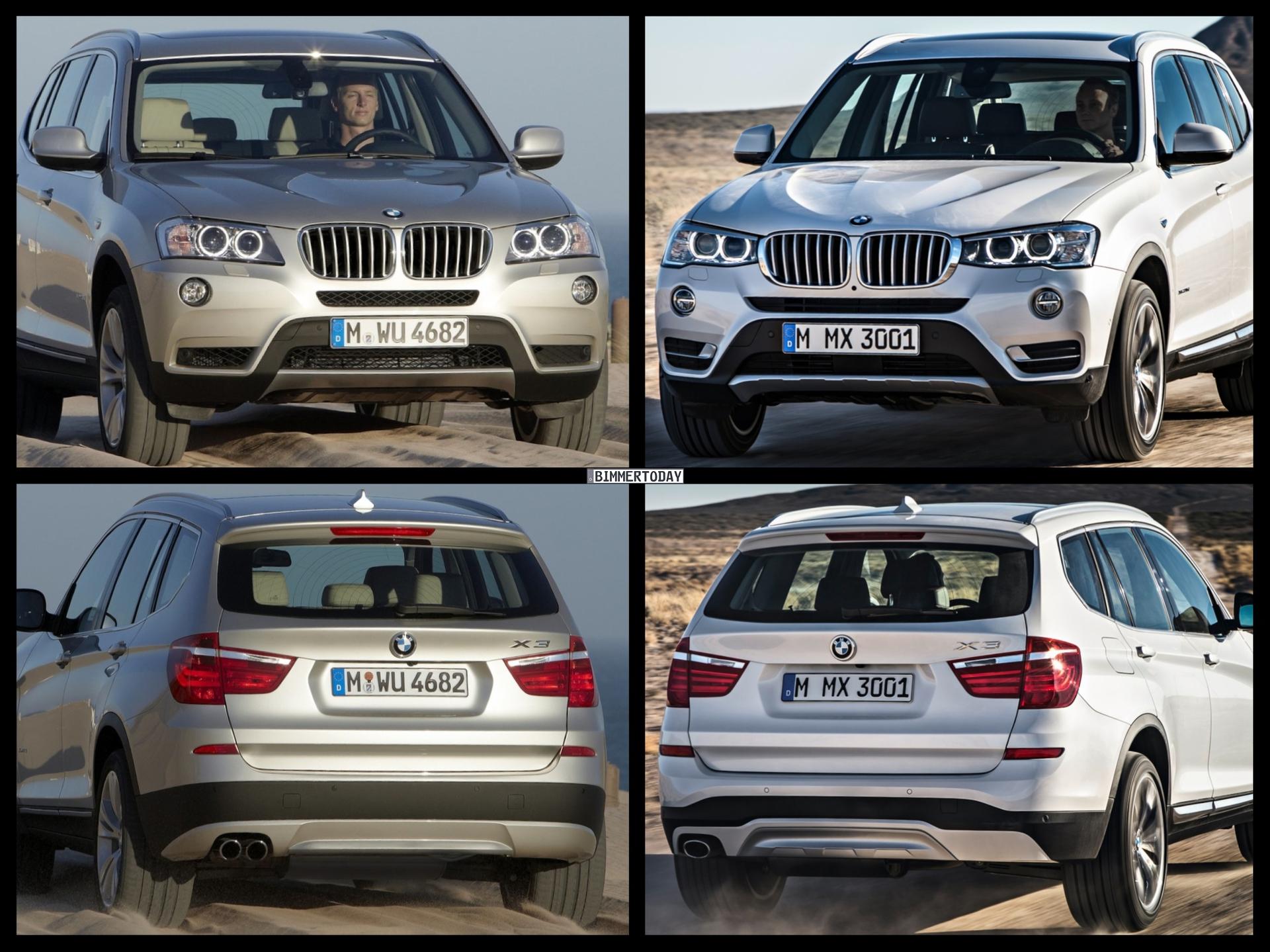 2015 Bmw X3 Facelift Vs Bmw X3 Pre Facelift Photo