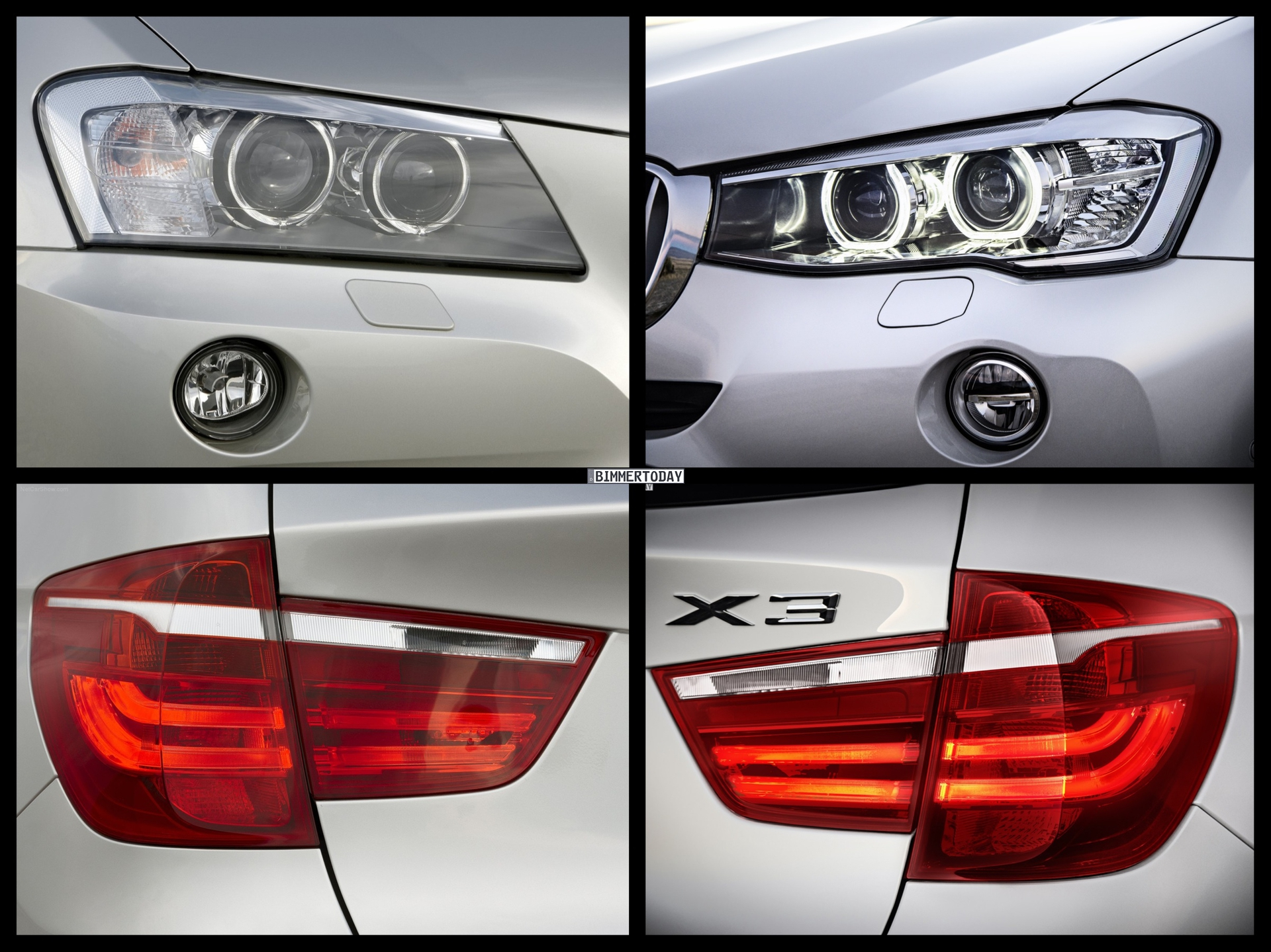 Bild Vergleich BMW X3 F25 XDrive Facelift LCI 2014 05 750x562