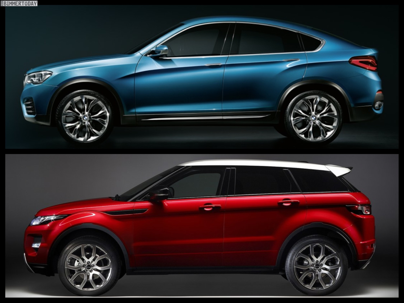 Bmw X4 Vs Range Rover Evoque Photo Comparison