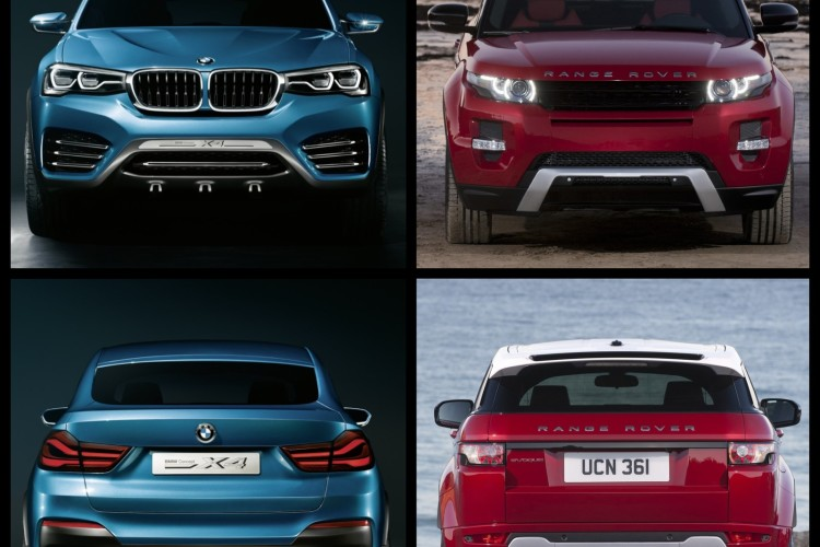 Bild Vergleich BMW X4 F26 Concept Range Rover Evoque 04 750x500