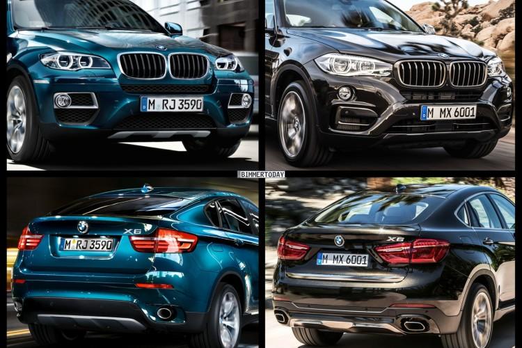 Bild Vergleich BMW X6 F16 E71 LCI SUV Coupe xDrive 2014 05 750x500