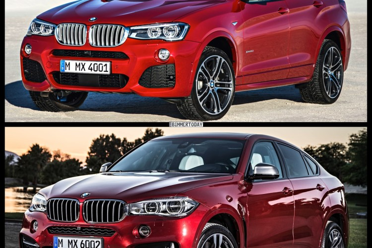 Bild Vergleich BMW X6 F16 X4 F26 SUV Coupe xDrive 2014 01 750x500