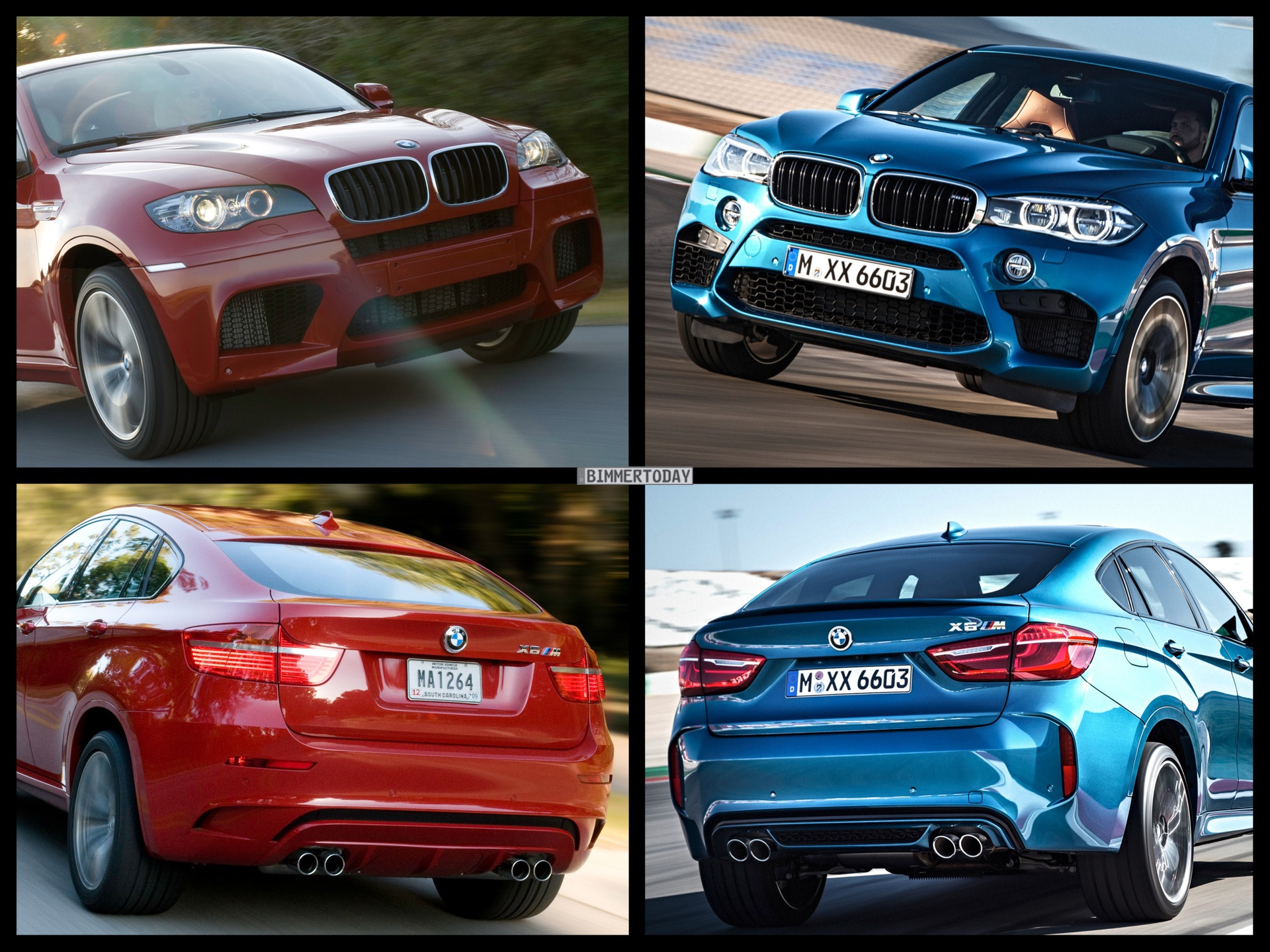 Photo Comparison F86 Bmw X6 M Vs E71 Bmw X6 M