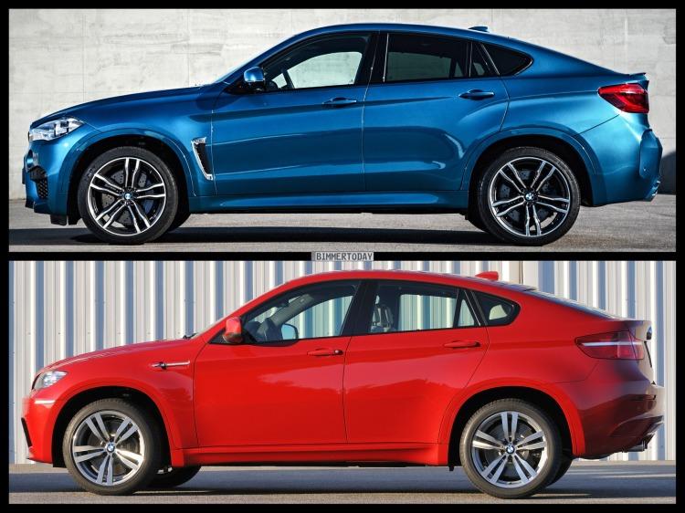 Bild Vergleich BMW X6 M F86 E71 SUV Coupe 2015 04 750x562