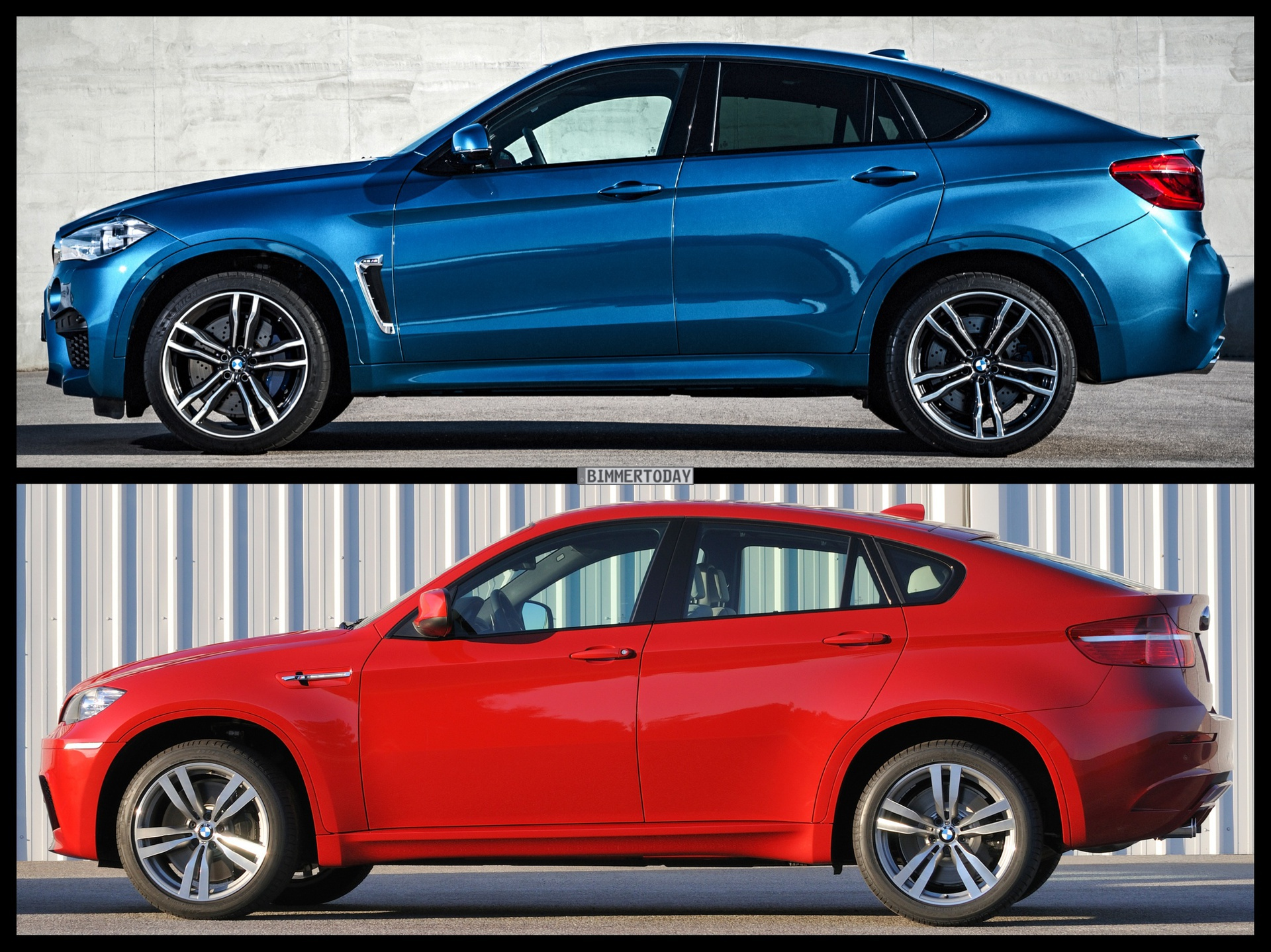 photo comparison f86 bmw x6 m vs e71 bmw x6 m. Black Bedroom Furniture Sets. Home Design Ideas