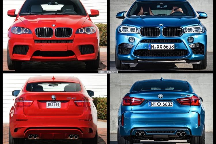 Bild Vergleich BMW X6 M F86 E71 SUV Coupe 2015 05 750x500