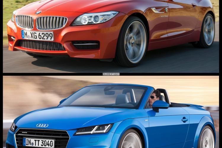 Bild Vergleich BMW Z4 E89 LCI Audi TT Roadster 2014 01 750x500
