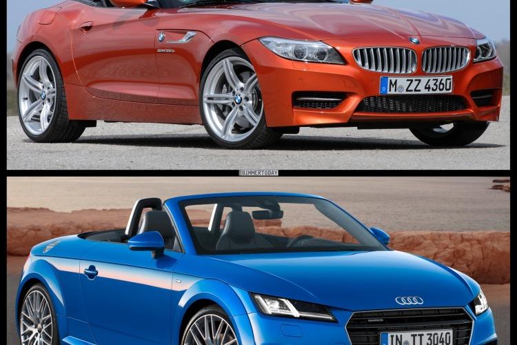 Bild Vergleich BMW Z4 E89 LCI Audi TT Roadster 2014 02 750x500