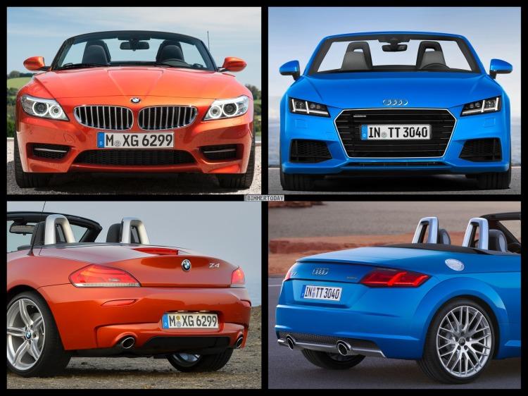 Bild Vergleich BMW Z4 E89 LCI Audi TT Roadster 2014 05 750x562