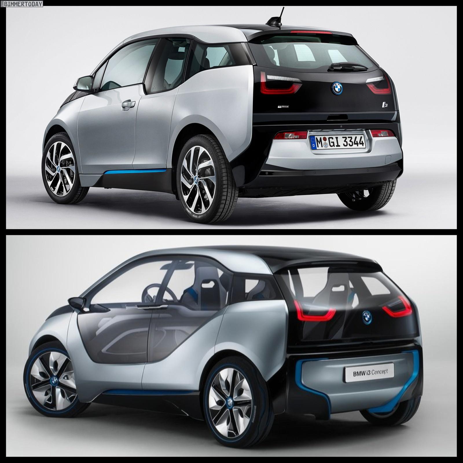 Comparison: BMW I3 Concept Vs BMW I3 Production Car