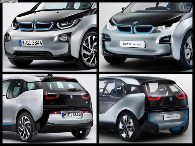Bild Vergleich BMW i3 Concept 2011 2013 IAA 655x490