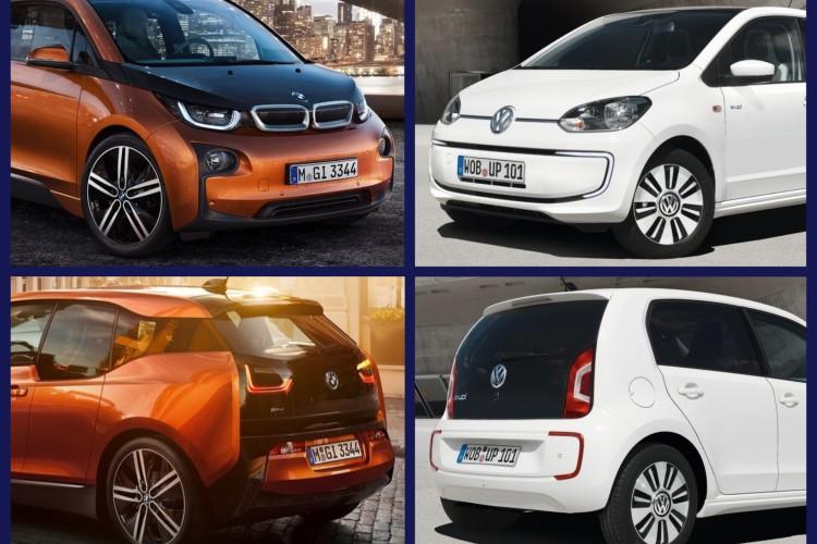 Bild Vergleich BMW i3 eDrive VW e Up 2013 750x500