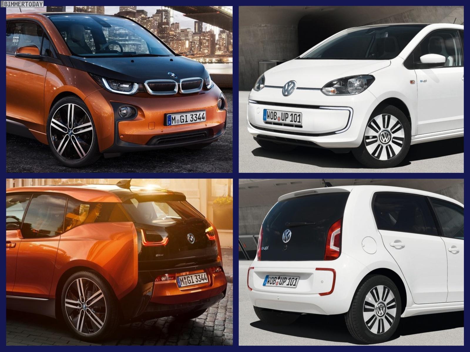 Bild Vergleich BMW i3 eDrive VW e Up 2013