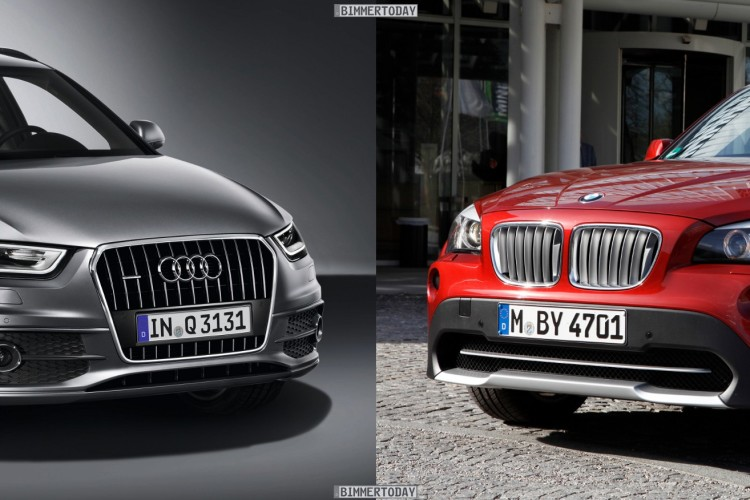 Bildvergleich Audi Q3 BMW X1 Front1 750x500