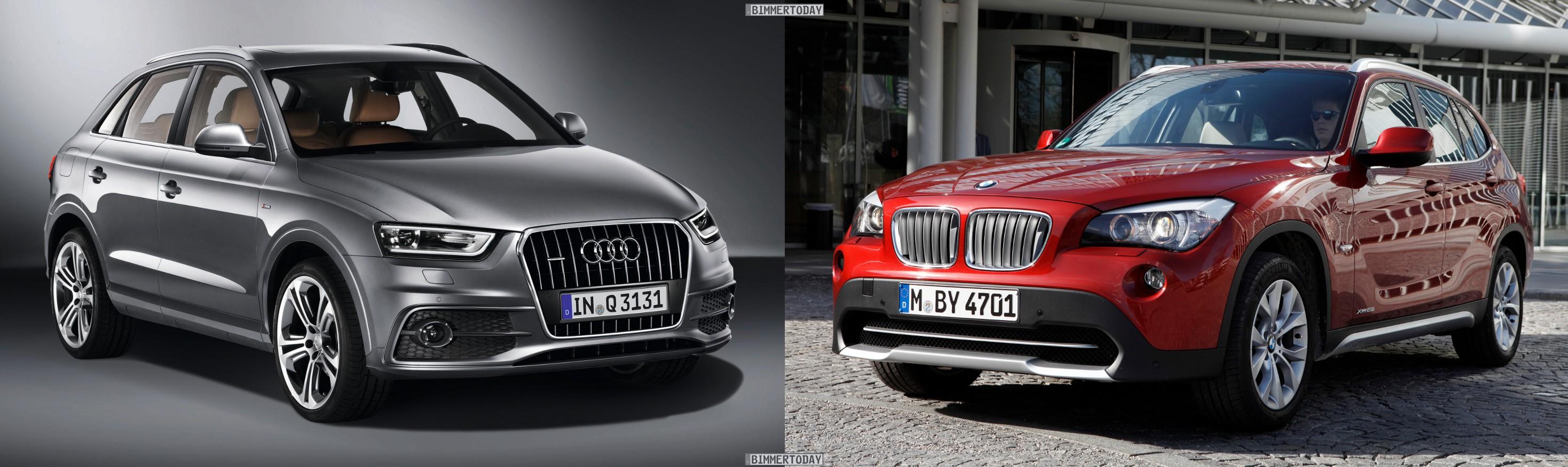 Bildvergleich Audi Q3 BMW X1 Front1