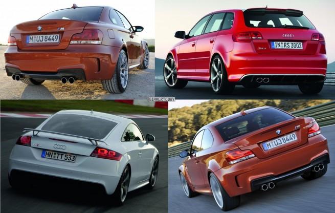 Bildvergleich Audi RS3 BMW 1er M Audi TT RS Heck2 655x416