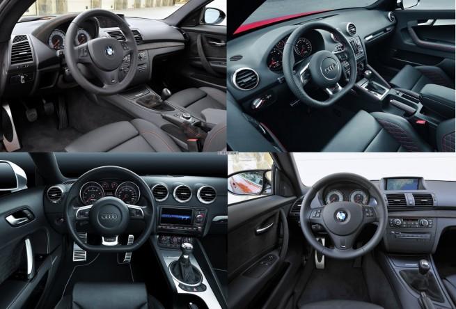 Bildvergleich-Audi-RS3-BMW-1er-M-Audi-TT-RS-Innenraum