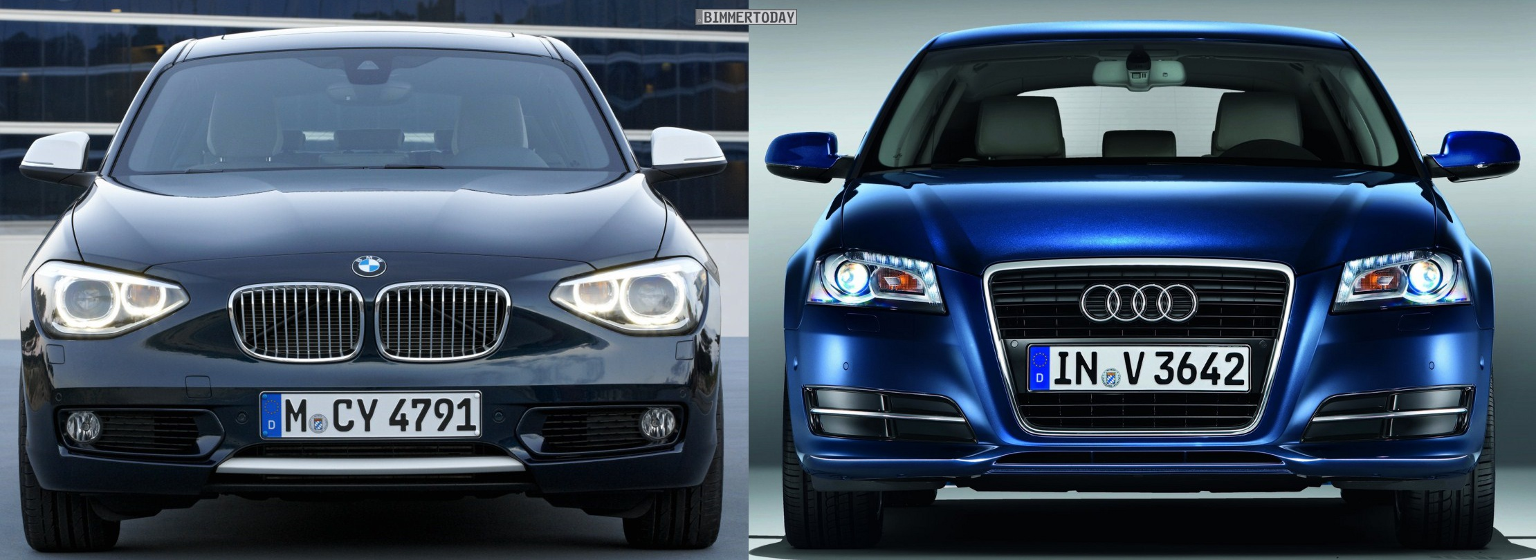 Photo Comparison 2012 Bmw 1 Series Vs Audi A3