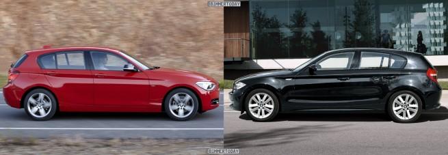 Bildvergleich BMW 1er F20 vs E87 LCI Seite 655x227
