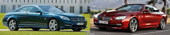 Bildvergleich BMW 6er Coupe F13 Mercedes CL Front2 655x138