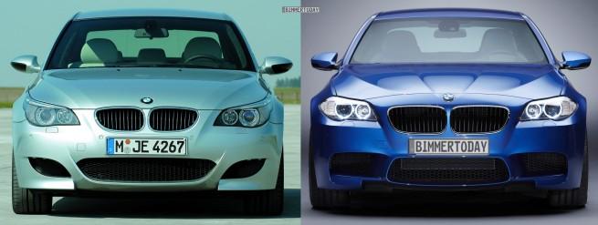 Bildvergleich BMW M5 F10 M5 E60 Front 655x247