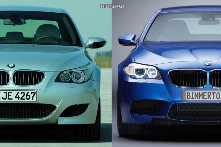Bildvergleich BMW M5 F10 M5 E60 Front1 750x500