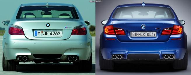 Bildvergleich BMW M5 F10 M5 E60 Heck 655x259