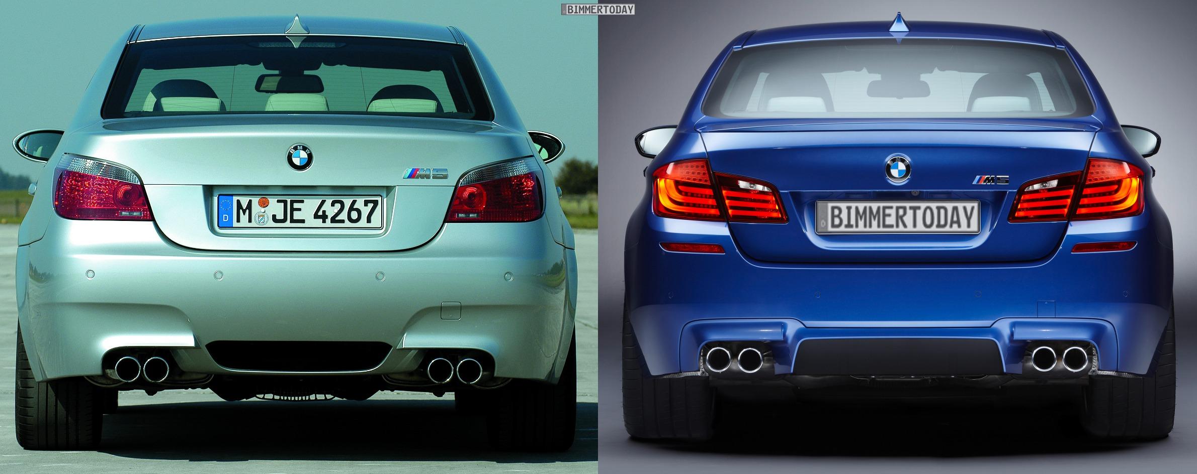 Photo Comparison 2012 Bmw M5 Vs E60 M5